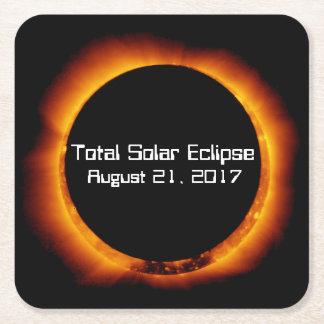 Dessous-de-verre Carré En Papier Éclipse 2017 solaire totale