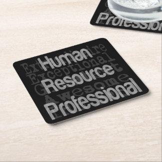 Dessous-de-verre Carré En Papier Extraordinaire professionnel de ressource humaine