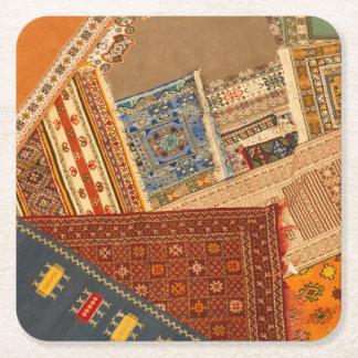 Dessous-de-verre Carré En Papier Fin de collage de tapis