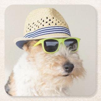 Dessous-de-verre Carré En Papier Fox Terrier