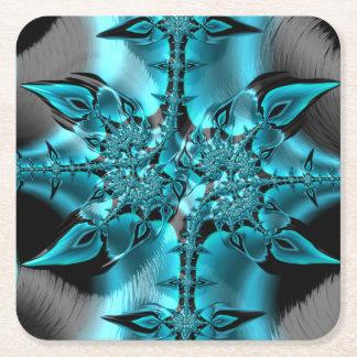 Dessous-de-verre Carré En Papier Fractales de fantaisie et d'amusement avec les