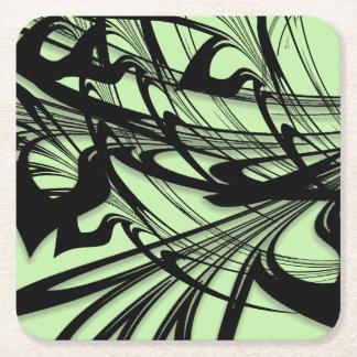 Dessous-de-verre Carré En Papier Gorge noire et verte de fougère