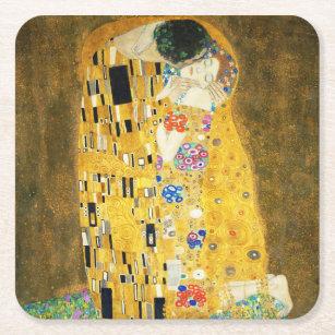 Dessous-de-verre Carré En Papier Gustav Klimt la peinture vintage de Nouveau d'art