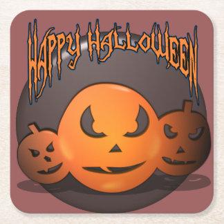 Dessous-de-verre Carré En Papier Halloween heureux