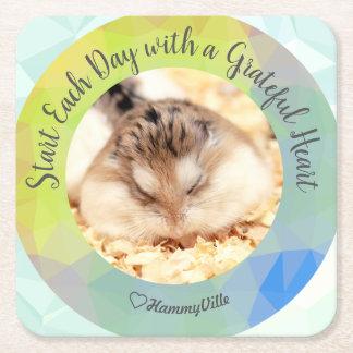 Dessous-de-verre Carré En Papier HammyVille - début mignon de hamster chaque jour