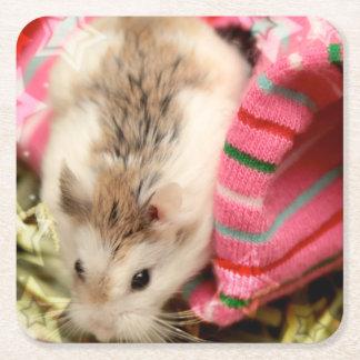 Dessous-de-verre Carré En Papier Hammyville - hamster mignon