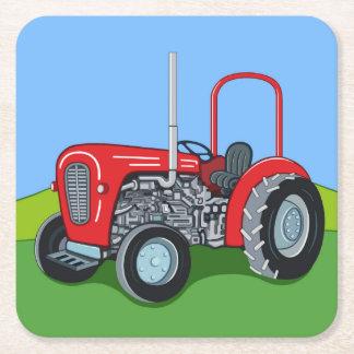 Dessous-de-verre Carré En Papier Herbert le tracteur
