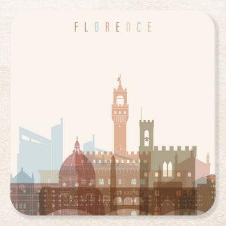 Dessous-de-verre Carré En Papier Horizon de ville de Florence, Italie |
