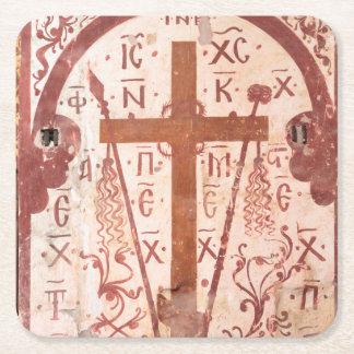 Dessous-de-verre Carré En Papier Illustration croisée de Christain