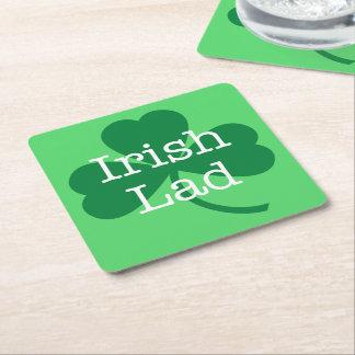 Dessous-de-verre Carré En Papier Jeune homme irlandais, partie du jour de St