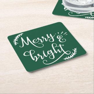 Dessous-de-verre Carré En Papier joyeuses et lumineuses vacances de Noël