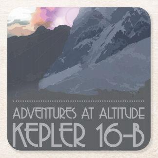 Dessous-de-verre Carré En Papier Kepler 16 dessous de verre de l'espace de b