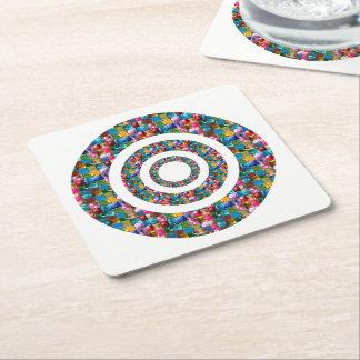 Dessous-de-verre Carré En Papier La couleur de changement du modèle do-it-yourself