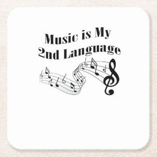 Dessous-de-verre Carré En Papier La musique est mon 2ème cadeau de musique d'amour
