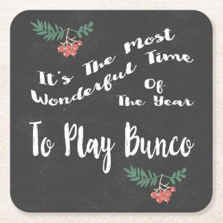Dessous-de-verre Carré En Papier La plupart de temps de Wondeful pour jouer Bunco