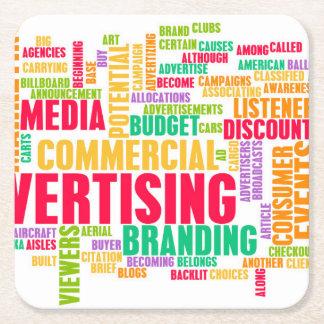 Dessous-de-verre Carré En Papier La publicité en ligne et dans la méthode