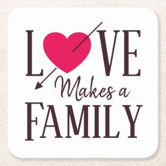 Dessous-de-verre Carré En Papier L'amour fait une famille - approvisionnements de