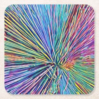 Dessous-de-verre Carré En Papier L'arc-en-ciel colore les dessous de verre de