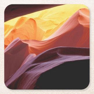 Dessous-de-verre Carré En Papier L'Arizona, formations de grès du canyon   de Paria