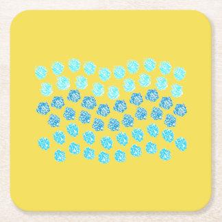 Dessous-de-verre Carré En Papier Le bleu ondule des dessous de verre de papier