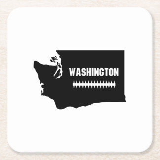 Dessous-de-verre Carré En Papier Le football de carte de Washington