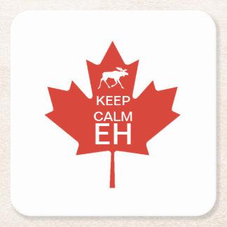 Dessous-de-verre Carré En Papier Le jour du Canada GARDENT le potentiel