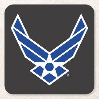 Dessous-de-verre Carré En Papier Logo d'armée de l'air des États-Unis - Bleu