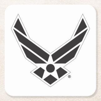 Dessous-de-verre Carré En Papier Logo d'armée de l'air des États-Unis - Noir