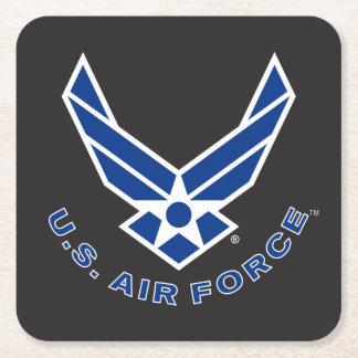Dessous-de-verre Carré En Papier Logo de l'Armée de l'Air - bleu