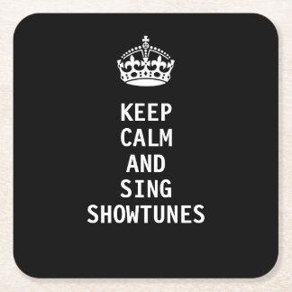 Dessous-de-verre Carré En Papier Maintenez calme et chantez Showtunes