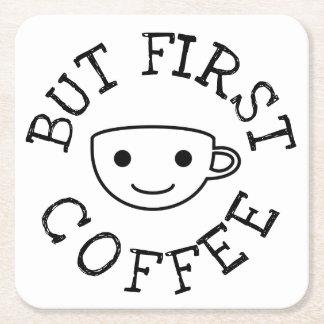 Dessous-de-verre Carré En Papier Mais premier café