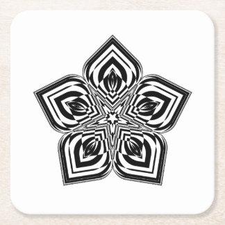 Dessous-de-verre Carré En Papier Mandala #01 de fleur
