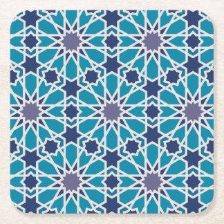 Dessous-de-verre Carré En Papier Motif abstrait dans bleu et gris