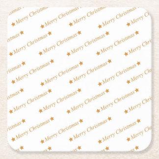 Dessous-de-verre Carré En Papier Motif de Joyeux Noël de typographie de Noël