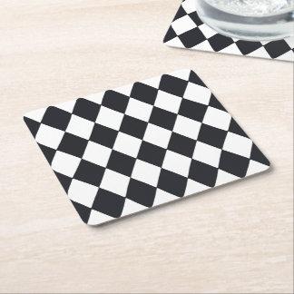 Dessous-de-verre Carré En Papier Noir de harlequin