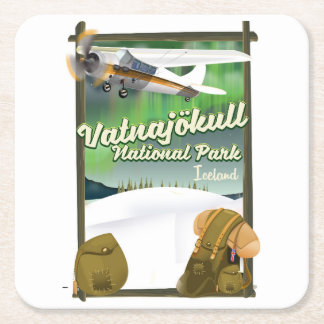 Dessous-de-verre Carré En Papier Parc national Islande de Vatnajökull