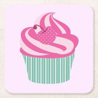 Dessous-de-verre Carré En Papier Petits gâteaux mignons
