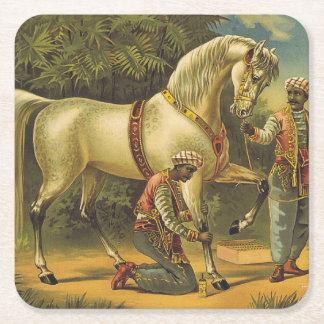 Dessous-de-verre Carré En Papier Pourcentage de cheval de PIÈCE EN T