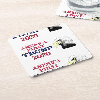 Dessous-de-verre Carré En Papier Premier atout de l'Amérique