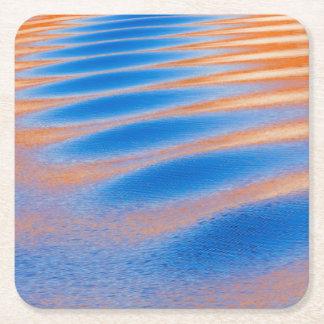 Dessous-de-verre Carré En Papier Réflexion de falaise en canyon de gorge de Powell