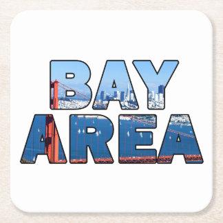Dessous-de-verre Carré En Papier Région de Baie de San Franciso
