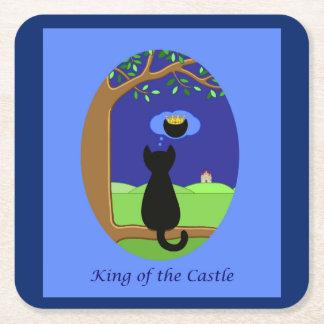 Dessous-de-verre Carré En Papier Roi du château