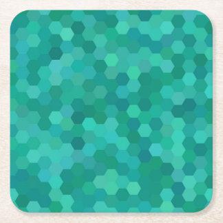 Dessous-de-verre Carré En Papier Teal hexagonal