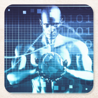 Dessous-de-verre Carré En Papier Technologies intégrées sur un concept de niveau