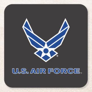 Dessous-de-verre Carré En Papier U.S. Logo de l'Armée de l'Air - bleu