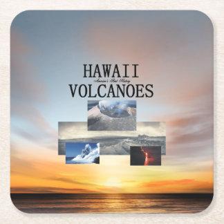 Dessous-de-verre Carré En Papier Volcans d'ABH Hawaï