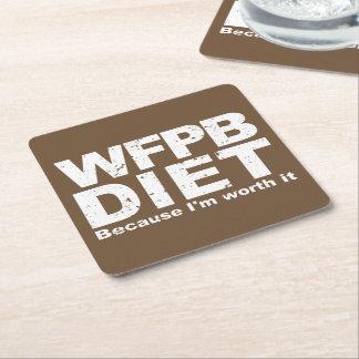 Dessous-de-verre Carré En Papier WFPB I le vaux (blanc)