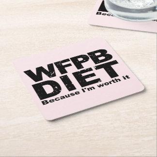 Dessous-de-verre Carré En Papier WFPB I le vaux (le noir)