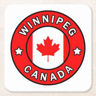 Dessous-de-verre Carré En Papier Winnipeg Canada