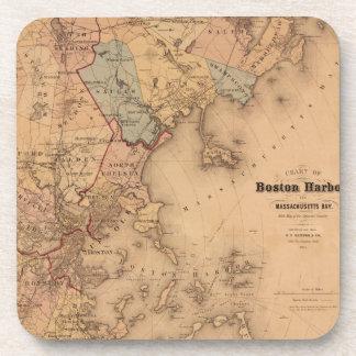 Dessous-de-verre Carte de Boston 1861